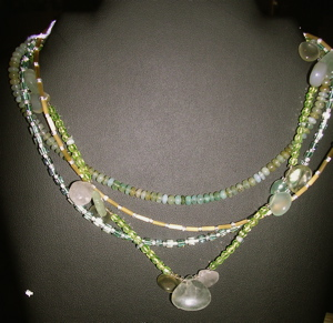 Peruvian Opal Pendant Necklace