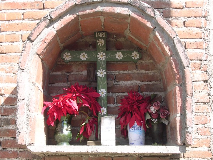 Street corner altar, Teotitlan del Valle, Oaxaca
