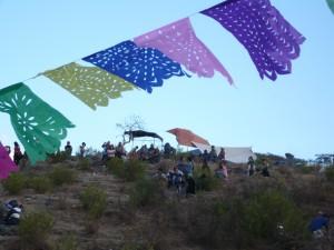 Papel Picado at Las Cuevitas