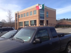 Mexican Consulate, Raleigh, NC, waiting for appointment