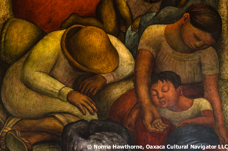 In mexico city looking for diego rivera oaxaca cultural for Diego rivera s most famous mural