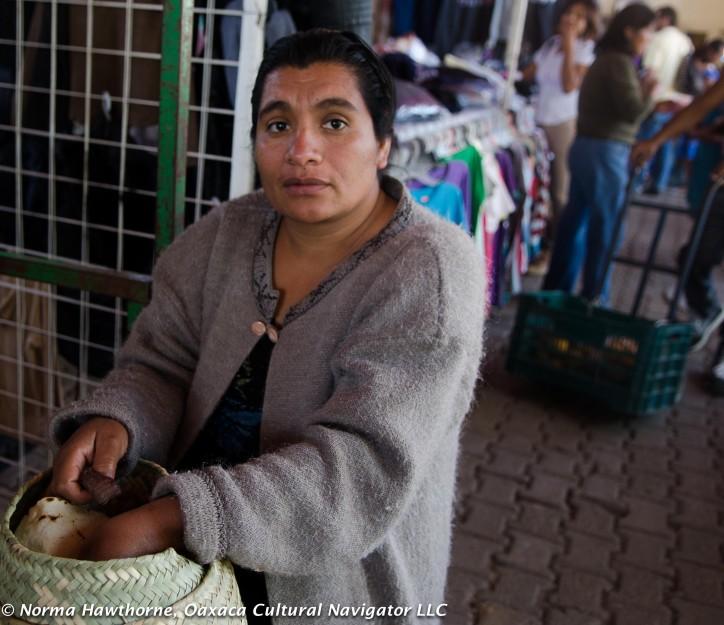 Mixtec Basketweaver, Tlacolula Market, Oaxaca, Mexico