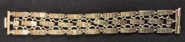 """Bracelet, 6-7/8"""" long x 1"""" wide, $445."""