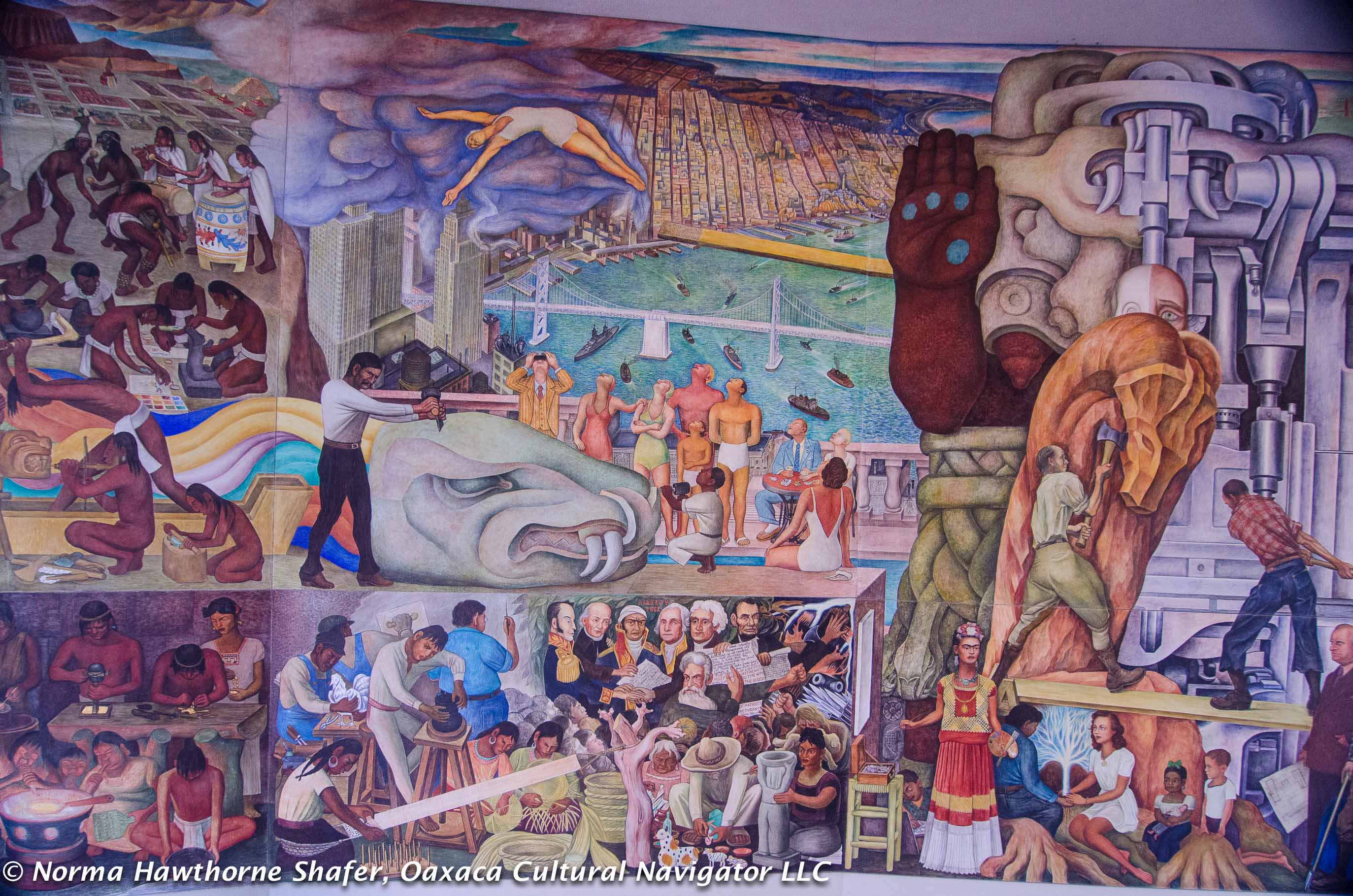 Pan american unity left half for City college of san francisco diego rivera mural
