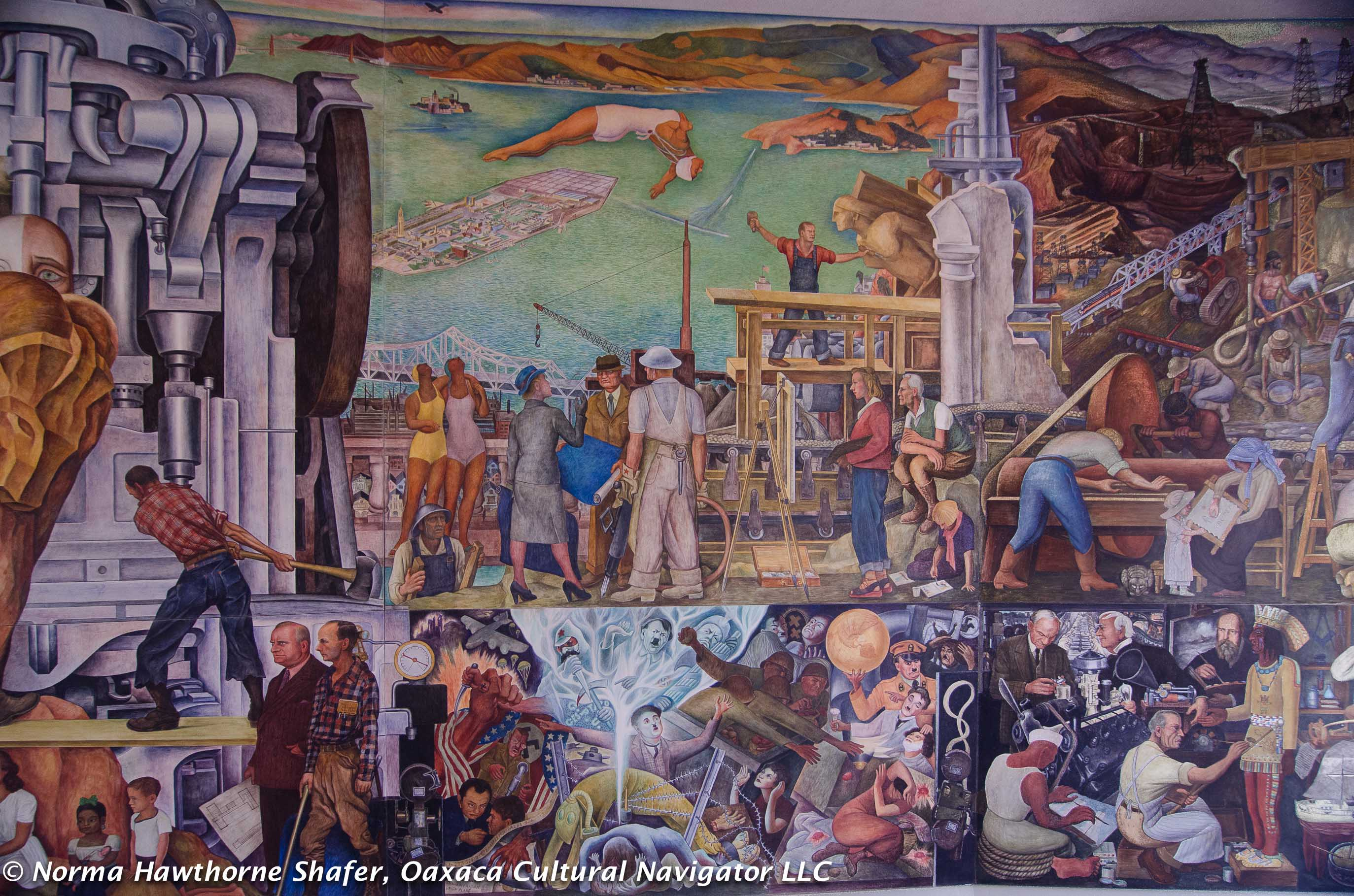 Diego rivera murals in san francisco critical guide for for Diego rivera creation mural