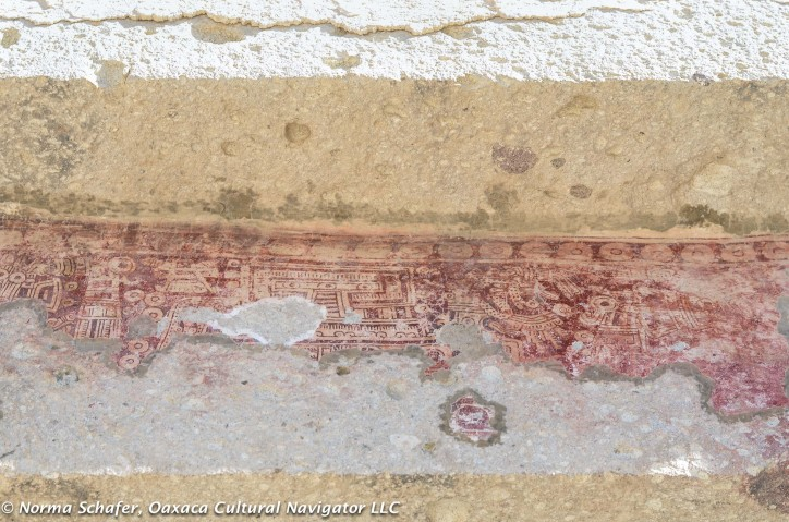 Codices etched in plaster, painted with cochineal