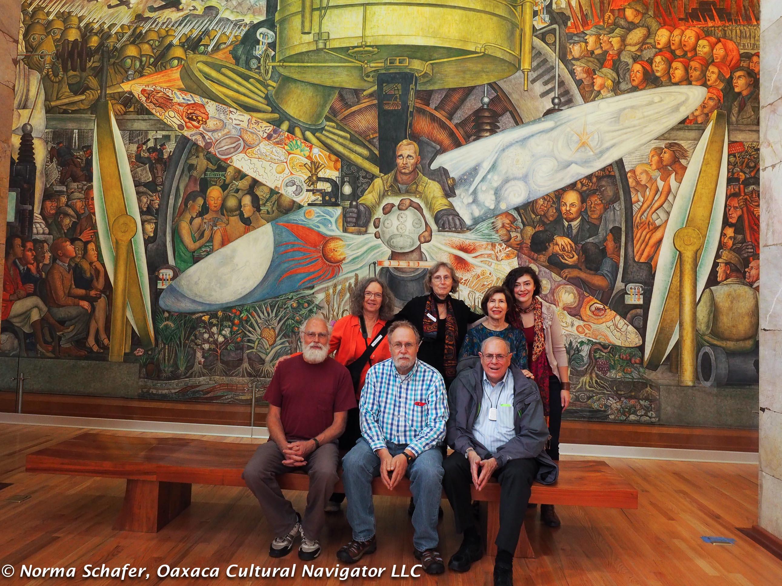 Murals oaxaca cultural navigator norma schafer for Diego rivera rockefeller center mural
