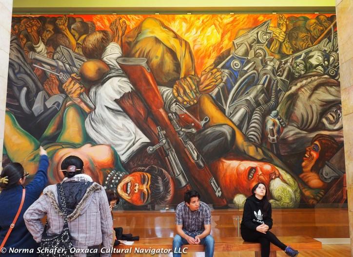 Katharsis, 1934 mural by Jose Clemente Orozco, Palacio Bellas Artes